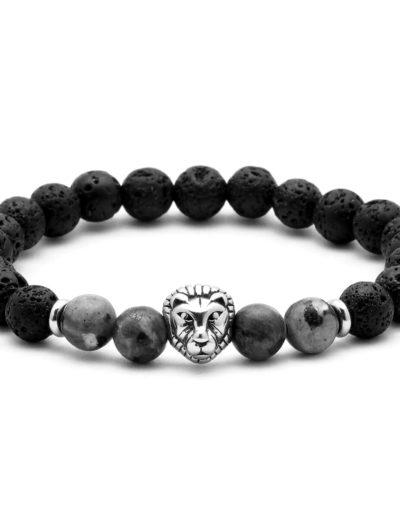 BRAVE-labradorit lávakő acél oroszlános ásvány karkötő 1 (1)