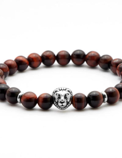 BRAVE-macskaszem oroszlános ásvány karkötő acél dísszel (1)