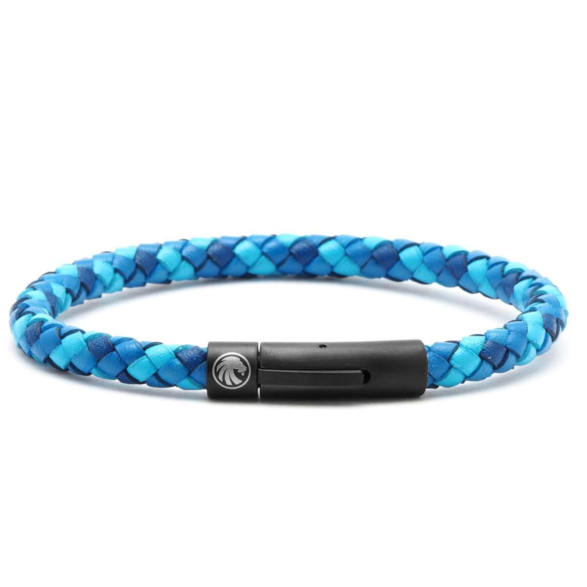 ARROW – Egysoros Kék Fonott Bőr Karkötő